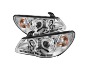 Hyundai Elantra 07-10 DRL LED Projector Headlights - Chrome