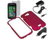 Rubberized Protector Snap On Hard Cover Case For Samsung ATIV Odyssey i930 + LCD Car Home Charger