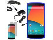 Crystal TPU Gel Skin Case For LG Google Nexus 5 D820 LCD Car Home Charger