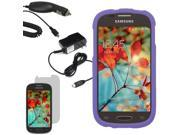 Protector Hard Shell Cover Case Samsung Galaxy Light T399 LCD Car Home Charger