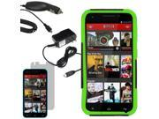 Hybrid Protector Hard Shell Stand Case For Blu Studio 5.5 LCD Car Home Charger