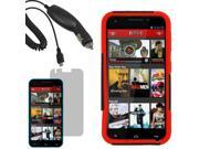 Hybrid Protector Hard Shell Stand Cover Case For Blu Studio 5.5 LCD Car Charger