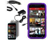 Hybrid Protector Hard Shell Stand Case For Blu Studio 5.5 3 LCD Car Home Charger