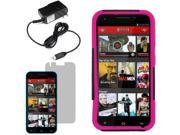 Hybrid Protector Hard Shell Stand Cover Case For Blu Studio 5.5 LCD Home Charger