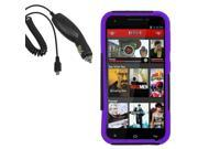 Hybrid Protector Hard Shell Stand Cover Case For Blu Studio 5.5 Car Charger
