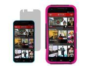 Hybrid Protector Hard Shell Stand Cover Case For Blu Studio 5.5 LCD Film