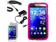Protector Hard Shell Cover Case For Blu Studio 5.3 II LCD Car Home Charger