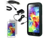 Robot Protector Hard Stand Case Samsung Galaxy S 5 G900 LCD Car Home Charger