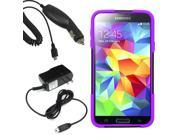 Hybrid Protector Hard Shell Stand Case Samsung Galaxy S 5 G900 Car Home Charger