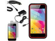 Tough Protector Hard Shell Stand Case Fr Blu Life Pro L210A LCD Car Home Charger