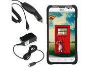 Hybrid Protector Hard Shell Stand Case LG Optimus L70 Exceed 2 Realm Car Home Charger