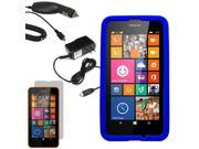Silicone Gel Skin Cover Case For Nokia Lumia 635 630 LCD Car Home Charger