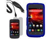 Protector Hard Shell Cover Case For ZTE Concord II LCD Car Charger