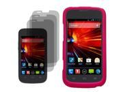 Protector Hard Shell Cover Case For ZTE Concord II 3x LCD Guard
