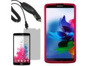 Protector Hard Shell Cover Case For LG G Vista VS880 LCD Car Charger