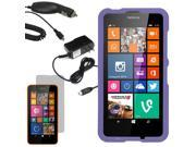 Protector Hard Shell Cover Case For Nokia Lumia 630 LCD Car Home Charger