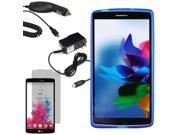 Crystal TPU Gel Skin Cover Case For LG G Vista VS880 LCD Car Home Charger