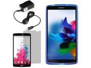 Crystal TPU Gel Skin Cover Case For LG G Vista VS880 LCD Home Charger