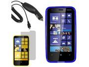 Crystal TPU Gel Skin Cover Case For Nokia Lumia 620 Screen Car Charger