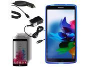 Crystal TPU Gel Skin Cover Case For LG G Vista VS880 3 LCD Car Home Charger