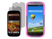 Hybrid Hard Shell Cover Case For Boost Mobile ZTE Warp Sync N9515 2x LCD Guard