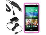 Hybrid Protector Hard Shell Stand Cover Case For HTC Desire 610 Car Home Charger