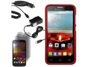 Hard Shell Cover Case TMobile Alcatel One Touch Fierce 2 3 LCD Car Home Charger