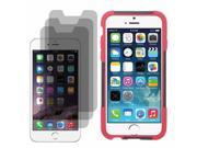 "Hybrid Hard Shell Stand Cover Case For Apple iPhone 6 4.7"" 3 LCD Guard"
