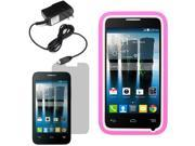Tough Hard Shell Stand Case Alcatel One Touch Evolve 2 4037T LCD Home Charger