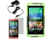 Hybrid Hard Shell Stand Cover Case For HTC Desire 610 LCD Home Charger