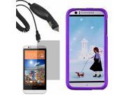 Protector Hard Shell Cover Case For HTC Desire 510 LCD Car Charger