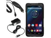 Hybrid Hard Shell Stand Case For Verizon Motorola Droid Turbo Car Home Charger