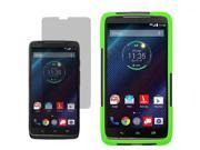 Hybrid Protector Shell Stand Case For Motorola Droid Turbo XT1254 Screen Film