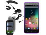 Rugged Silicone Gel Skin Cover Case For ZTE Quartz Z797C 3x LCD Car Home Charger
