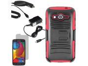 Armor Hard Shell Holster Clip Case For Samsung Galaxy Avant LCD Car Home Charger