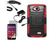 Armor Hard Shell Holster Case LG Tribute LS660 Optimus F60 Transpyre LCD Car Home Charger