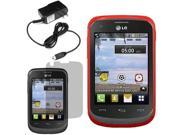 Crystal TPU Gel Skin Cover Case For LG 306G LCD Home Charger