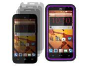 Tough Hard Shell Stand Case For Boost Mobile ZTE Speed N9130 3x LCD Guard