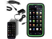 Tough Hard Shell Stand Case ATT Huawei Tribute Fusion 3 3x LCD Car Home Charger