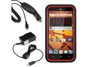 Tough Hard Shell Stand Case For ZTE Speed  Car Home Charger