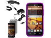 Crystal TPU Gel Skin Case Boost Mobile ZTE Speed N9130 3x LCD Car Home Charger