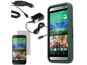 Robot Protector Shell Stand Cover Case For HTC One M9 LCD Car Home Charger