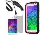 Tough Protector Hard Shell Stand Case For Samsung Galaxy S 6 LCD Car Charger