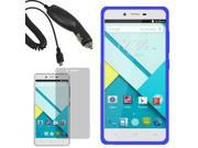 Rugged Silicone Gel Skin Cover Case For Blu Studio Energy D810L LCD Car Charger