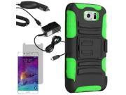 Armor Hard Holster Combo Cover Case Samsung Galaxy S 6 G925 LCD Car Home Charger