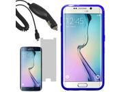 Crystal TPU Gel Skin Cover Case For Samsung Galaxy S 6 Edge LCD Car Charger