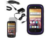 Robot Hard Shell Stand Cover Case For ATT ZTE Compel Z830 LCD Car Home Charger