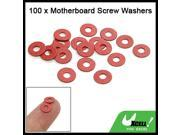 100 PCS Red Motherboard Screw Insularing Fiber Washers