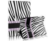 Black White Zebra Pattern Smart Sleep Wake-up Flip Folio Case for iPad Mini 1 2