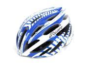 Blue White Outdoor Mountain Bike Cycling MTB 58-63cm Bicycle Helmet With Visor